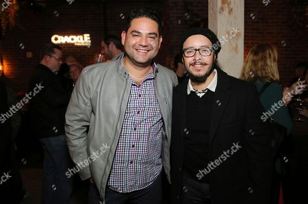 """Juan Gabriel Pareja and Efren Ramirez seen at the Crackle Original Movie """"Mad Families"""" Premiere Party at Catch LA, in West Hollywood, Calif"""