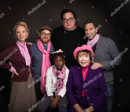"Actress Anne Heche, standing from left, writer Stuart Ross Fink, director Mark Pellington, actor Thomas Sadoski, actress AnnJewel Lee Dixon, seated left and actress Shirley MacLaine, seated right, pose for a portrait to promote the film, ""The Last Word"", during the Sundance Film Festival in Park City, Utah"