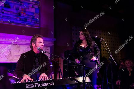 Jonathan Cain, left, and Madison Cain perform at Jonathan Cain and Friends at Rose Bar on Saturday, April, 8, 2017 in New York