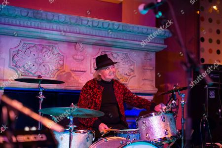 Alan White performs at Jonathan Cain and Friends at Rose Bar on Saturday, April, 8, 2017 in New York