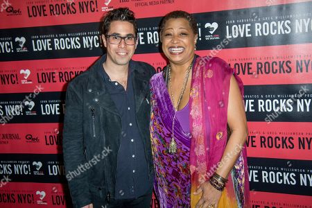Greg Williams, left, and Lisa Fischer attend Love Rocks NYC! at the Beacon Theatre on in New York