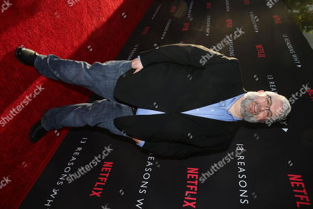 Exec. Producer Brian Yorkey seen at Netflix '13 Reasons Why' Premiere at Paramount Studios, in Los Angeles, CA