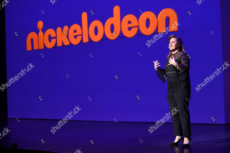 Stock Image of Cyma Zarghami speaks onstage at the Nickelodeon Upfront 2017 at Jazz at Lincoln Center on in New York City