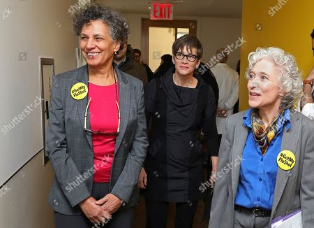 Stock Image of NYC Health Department Commissioner, Dr. Mary Travis Bassett, Global Executive Director of MAC AIDS Fund, Nancy Mahon and Assistant Commissioner, Dr. Susan Blank tour the newly renovated Riverside Sexual Health Clinic on in New York