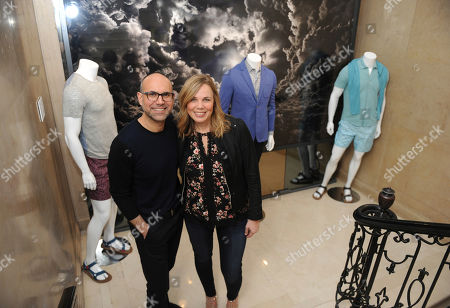 Designer Zachary Prell and Linda Bartman, Trunk Club's chief marketing officer, celebrate Prell's spring collection and his new fitting room at Trunk Club's New York Clubhouse, . Trunk Club is a personal styling service for men and women