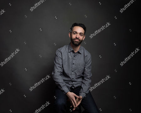 "Director Adam Sobel poses for a portrait to promote the film, ""The Workers Cup"", at the Music Lodge during the Sundance Film Festival, in Park City, Utah"