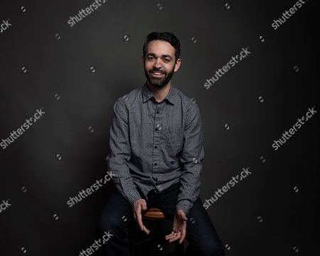 "Stock Image of Director Adam Sobel poses for a portrait to promote the film, ""The Workers Cup,"" at the Music Lodge during the Sundance Film Festival, in Park City, Utah"