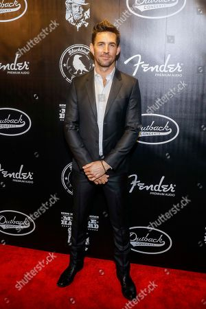 """Jake Owen arrives at the concert """"Sing me Back Home: The Music of Merle Haggard"""" at the Bridgestone Arena, in Nashville, Tenn"""