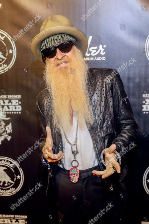 """Billy Gibbons arrives at the concert """"Sing me Back Home: The Music of Merle Haggard"""" at the Bridgestone Arena, in Nashville, Tenn"""