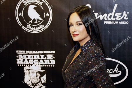 """Kacey Musgraves arrives at the concert """"Sing me Back Home: The Music of Merle Haggard"""" at the Bridgestone Arena, in Nashville, Tenn"""
