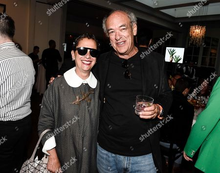 Chef Nancy Silverton, left, and talent agent Shep Gordon at the Los Angeles Times Food Bowl Gold Award Party at Spago, in Beverly Hills, Calif