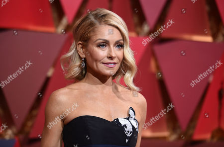Kelly Ripa arrives at the Oscars at the Dolby Theatre in Los Angeles. New Jersey's Hall of Fame honored its newest members including Camden County native Ripa, actor Ray Liotta of Newark and Middletown resident Connie Chung on