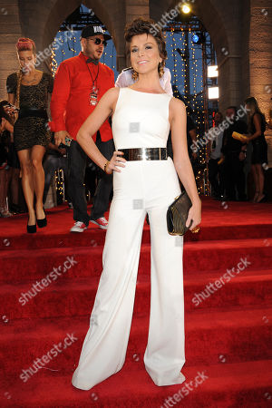 Diem Brown arrives at the MTV Video Music Awards at the Barclays Center in the Brooklyn borough of New York. Brown has lost a long battle with cancer. The reality star and advocate for cancer survivors died Friday, Nov. 14, 2014, in a New York hospital, according to E! Network correspondent Alicia Quarles. She was 32
