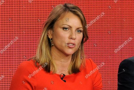 "60 Minutes"" reporter Lara Logan takes part in a panel discussion at the Showtime Winter TCA Tour in Pasadena, Calif. Logan is being quarantined in a South Africa hotel for three weeks as a precaution after visiting an American-run hospital treating Ebola patients in Liberia for a ""60 Minutes"" report that aired"