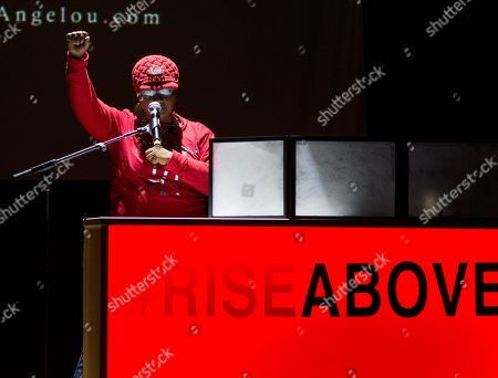 Oakland based social justice activist and poet Roxanne Hannah-Ware artistically empowers hundreds of women gathered at the launch of the national campaign, RISE Above sponsored by AIDS Healthcare Foundation and WORLD, in Oakland, Calif
