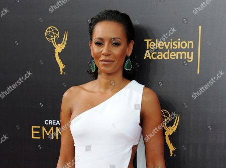 """Mel B arrives at night one of the Creative Arts Emmy Awards in Los Angeles. Court records in Los Angeles show the singer and """"America's Got Talent"""" judge filed for divorce from her husband of nearly 10 years, Stephen Belafonte,on . They have a 5-year-old daughter together"""