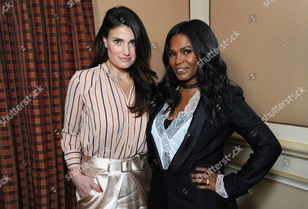 """Stock Image of Idina Menzel, left, and Nia Long posing for a portrait to promote their film """"Beaches"""" at the Winter Television Critics Association press tour in Pasadena, Calif. The film, a remake of the 1988 film starring Bette Midler and Barbara Hershey, airs Saturday on Lifetime"""