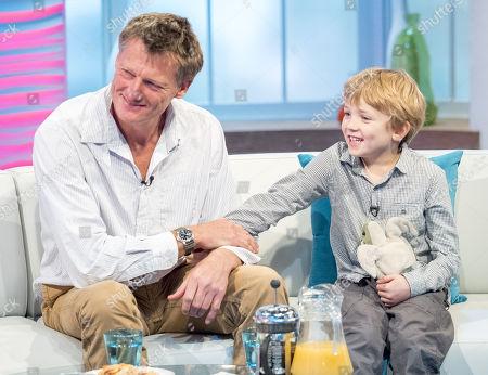 Benedict Allen and son Freddie