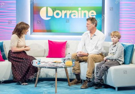 Lorraine Kelly, Benedict Allen and son Freddie