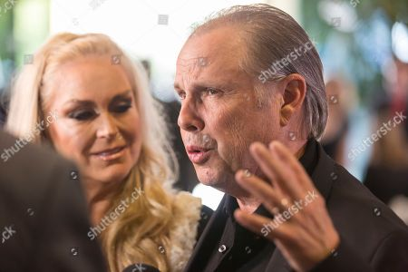 Todd Fisher and Catherine Hickland, left, arrive at the Carrie Fisher and Debbie Reynolds Memorial Service at The Forest Lawn, in Los Angeles. Fisher considers himself the custodian of Debbie Reynoldsâ?™ and Carrie Fisherâ?™s legacies
