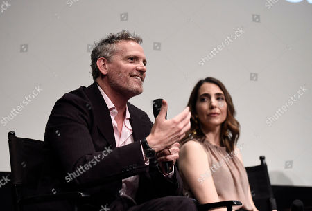 """Hugh Davidson and Rachel Ramras seen at TV Land's """"Nobodies"""" FYC Panel at The London Hotel, in Los Angeles, CA"""