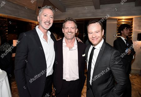 """Michael McDonald, Hugh Davidson and Larry Dorf seen at TV Land's """"Nobodies"""" FYC Panel at The London Hotel, in Los Angeles, CA"""