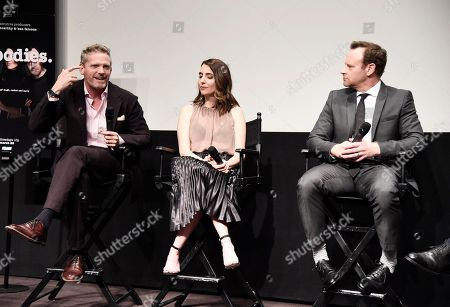 """Hugh Davidson, Rachel Ramras and Larry Dorf seen at TV Land's """"Nobodies"""" FYC Panel at The London Hotel, in Los Angeles, CA"""