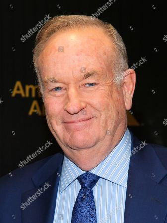 """April 6, 2016, shows Bill O'Reilly attending The Hollywood Reporter's """"35 Most Powerful People in Media"""" celebration at the Four Seasons Restaurant in New York. During an interview, with Glenn Beck, Oâ?™Reilly complained of a liberal â?oehit jobâ?? that did him in"""