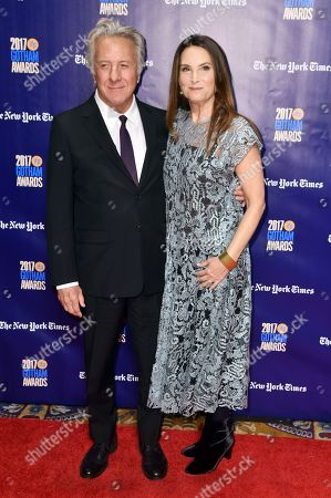 Stock Picture of Dustin Hoffman, Lisa Hoffman