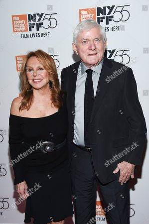 "Marlo Thomas, Phil Donahue. Actress Marlo Thomas and husband Phil Donahue attend the world premiere of ""Spielberg"", during the 55th New York Film Festival, at Alice Tully Hall, in New York"
