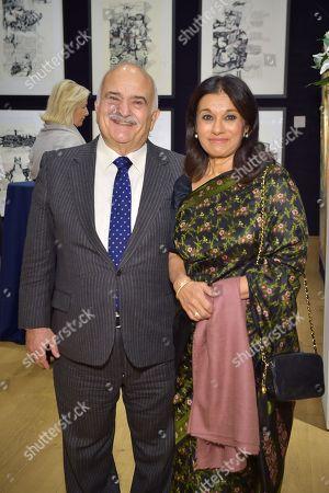 HRH Prince Hassan bin Talal of Jordan and HRH Princess Sarvath El Hassan al-Hassan of Jordan