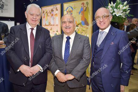 Lord Lamont, HRH Prince Hassan bin Talal of Jordan and Ali Reza Sagharchi