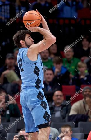 North Carolina forward Luke Maye during the first half of an NCAA college basketball game in the Phil Knight Invitational tournament in Portland, Ore