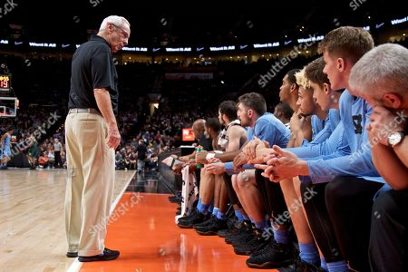 North Carolina head coach Roy Williams during the second half of an NCAA college basketball game in the Phil Knight Invitational tournament in Portland, Ore