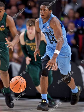 North Carolina guard Kenny Williams during the second half of an NCAA college basketball game in the Phil Knight Invitational tournament in Portland, Ore
