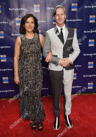 Joana Vicente, John Cameron Mitchell. Joana Vicente, left, and John Cameron Mitchell arrive at the 27th annual Independent Film Project's Gotham Awards at Cipriani Wall Street, in New York