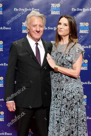 Dustin Hoffman and Lisa Hoffman (wife)