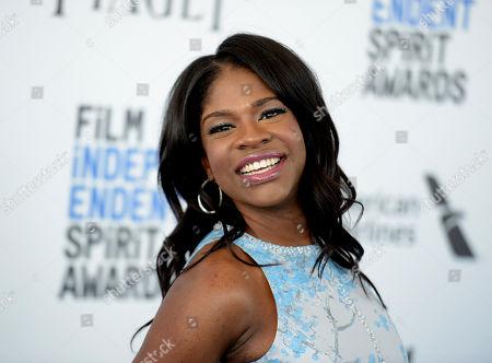 Edwina Findley arrives at the Film Independent Spirit Awards, in Santa Monica, Calif