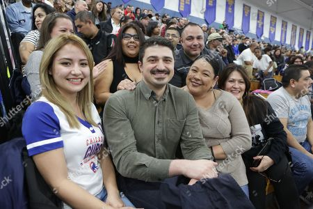 Chicago Fire actor Yuri Sardarov joins fans to watch the Chicago Fire Department and the Chicago Police Department duel at The Battle of the Badges presented by COUNTRY Financial, in Chicago