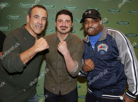 Chicago Fire Commissioner, Jose Santiago, Chicago Fire actor Yuri Sardarov and Chicago Police Superintendent Eddie Johnson square off before The Battle of the Badges presented by COUNTRY Financial, in Chicago