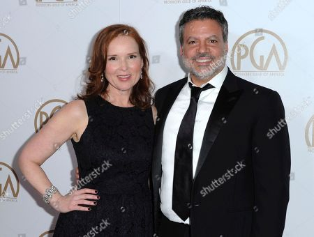 Jennifer Todd, left, and Michael De Luca arrive at the 27th Annual Producers Guild Awards in Los Angeles. Todd and De Luca will be reprising their roles as producers for the 90th Oscars on March 4, 2018