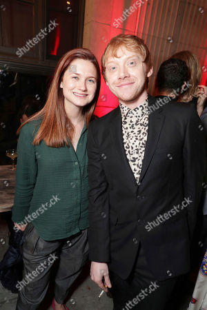 """Bonnie Wright and Rupert Grint seen at Crackle's """"Snatch"""" Premiere at ArcLight Culver City, in Culver City, Calif"""