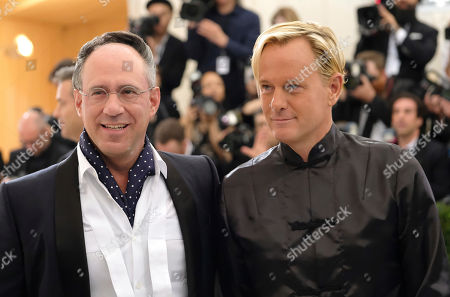 Andrew Saffir, left, and Daniel Benedict attend The Metropolitan Museum of Art's Costume Institute benefit gala celebrating the opening of the Rei Kawakubo/Comme des Garçons: Art of the In-Between exhibition, in New York