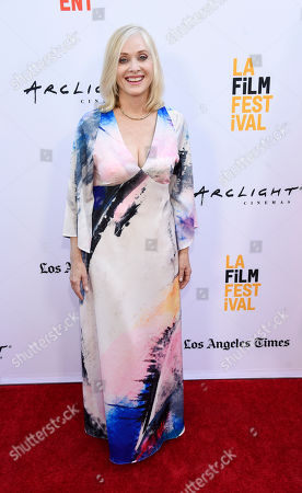 Actress Barbara Crampton poses on the opening night of the 2017 Los Angeles Film Festival at the ArcLight Culver City, in Culver City, Calif