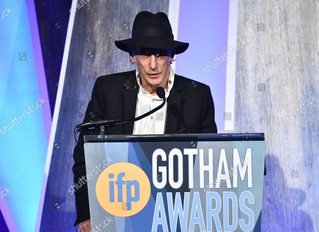 Cinematographer Ed Lachman accepts the tribute award at the 27th annual Independent Film Project's Gotham Awards at Cipriani Wall Street, in New York