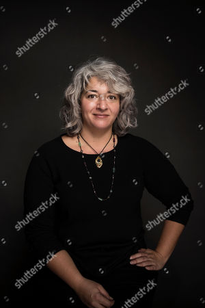 """Stock Photo of Trixie Garcia poses for a portrait to promote the film, """"Long Strange Trip"""", at the Music Lodge during the Sundance Film Festival, in Park City, Utah"""