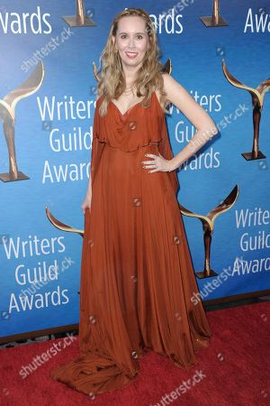 """Allison Schroeder attends the 2017 Writers Guild Awards at the Beverly Hilton Hotel in Beverly Hills, Calif. The 2017 Oscar nominations were a banner year for black nominees both in front of and behind the camera, but other nonwhite groups and women were largely left out of the running. Only one woman was nominated in any screenwriting category, Schroeder for """"Hidden Figures,"""" down from three last year, and, once again, no women were nominated for cinematography"""