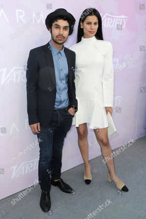 Kunal Nayyar, left, and Neha Kapur attend Variety's Celebratory Brunch for 2017 awards nominees at Cecconi's, in West Hollywood, Calif