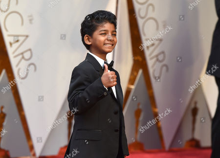 Sunny Pawar arrives at the Oscars, at the Dolby Theatre in Los Angeles