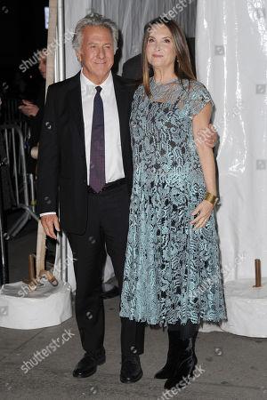 Stock Photo of Dustin Hoffman, Lisa Gottsegen